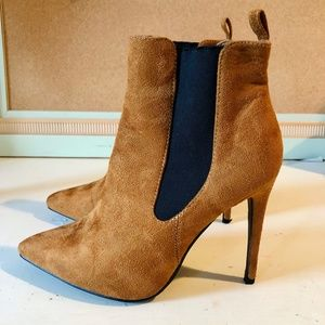 Public Desire Suede Heeled Ankle Booties